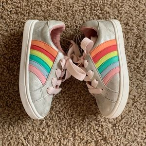 Cat & Jack Rainbow Sneakers Silver